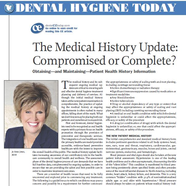 The Medical History Update:  Compromised or Complete?