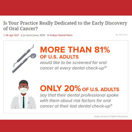 Is Your Practice Really Dedicated to the Early Discovery of Oral Cancer?