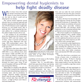 Empowering Dental Hygienists to Help Fight Deadly Disease