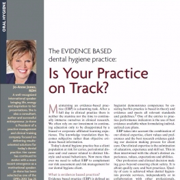 The Evidence Based Dental Hygiene Practice:  Is Your Practice on Track?
