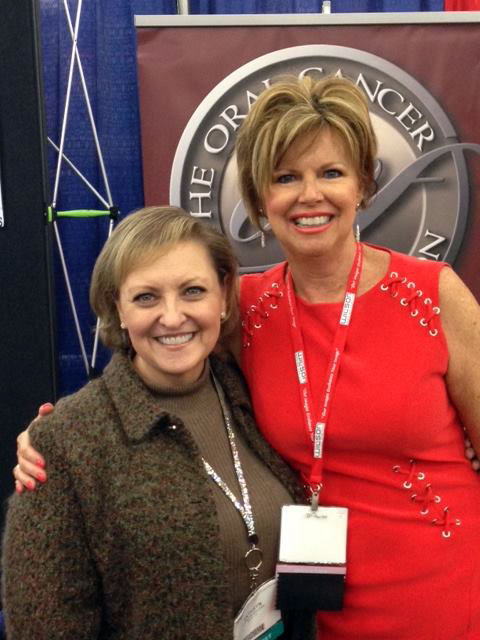 With Kathryn Kamish Gilliam at Star Of The South Dental Meeting.