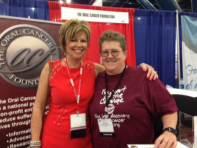 With Susan Pansmith at Star Of The South Dental Meeting.